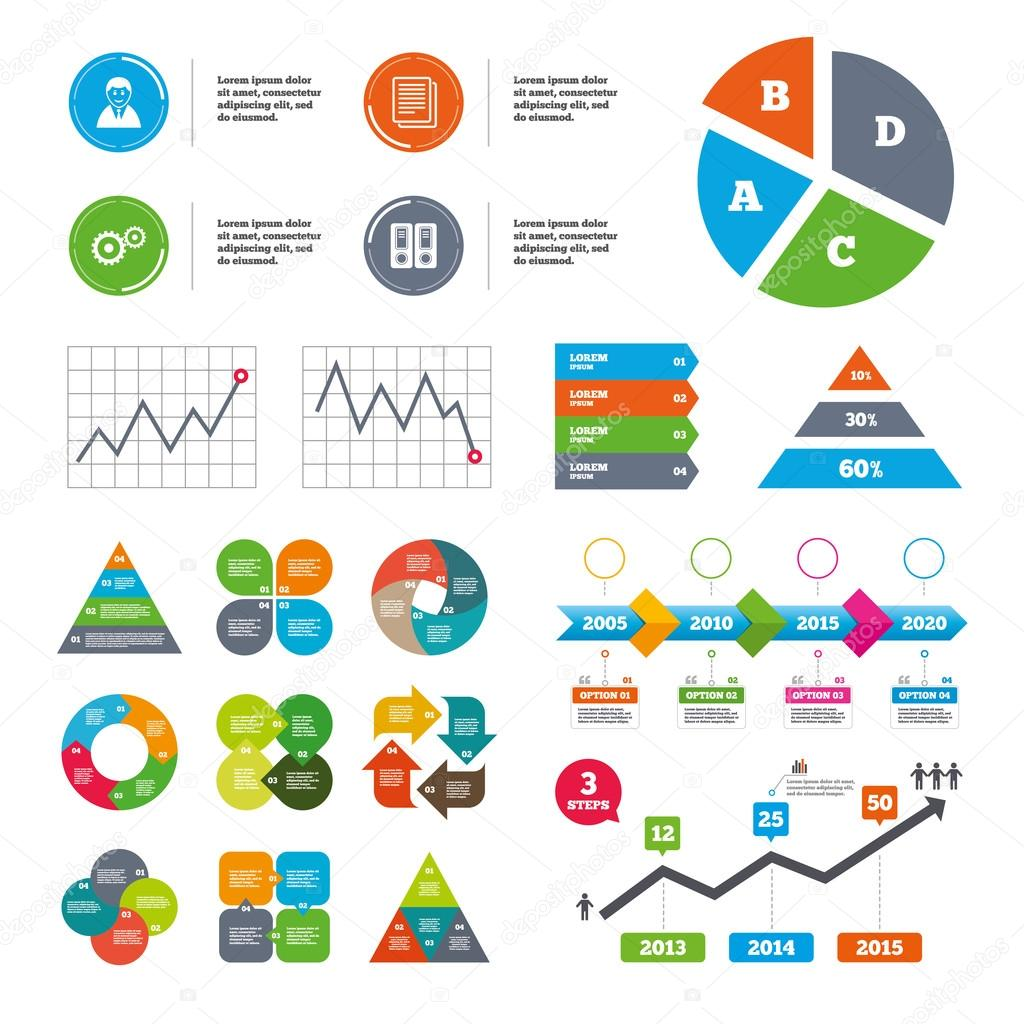 Accounting workflow icons human documents stock vector data pie chart and graphs accounting workflow icons human silhouette cogwheel gear and documents folders signs symbols presentations diagrams ccuart Image collections