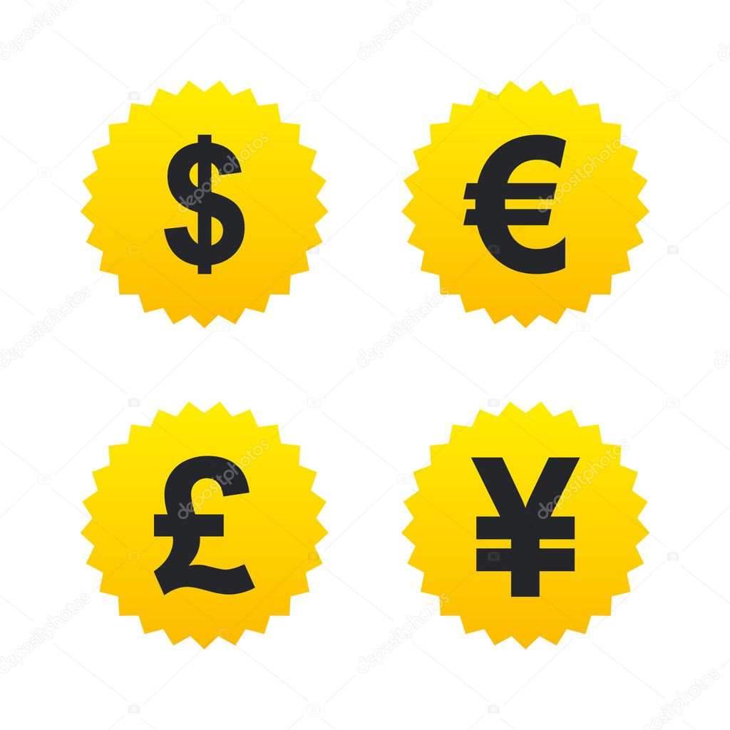 Dollar Euro Pound And Yen Currency Stock Vector Blankstock