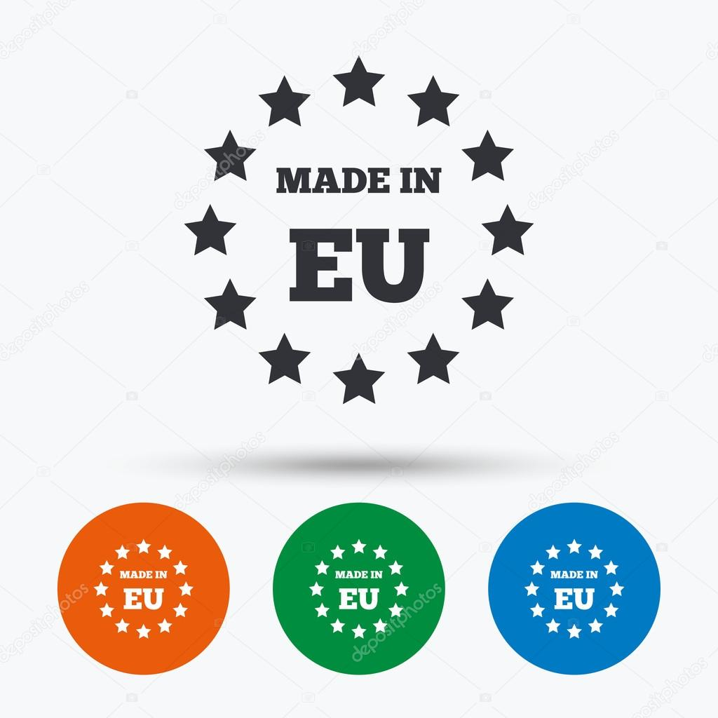 Ongebruikt Made in EU icon. — Stock Vector © Blankstock #116528286 US-18