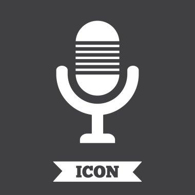 Microphone icon. Speaker symbol.