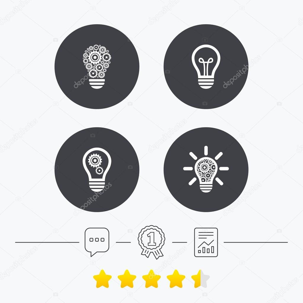 Lampe Licht Symbole. Energiespar-Symbole — Stockvektor © Blankstock ...