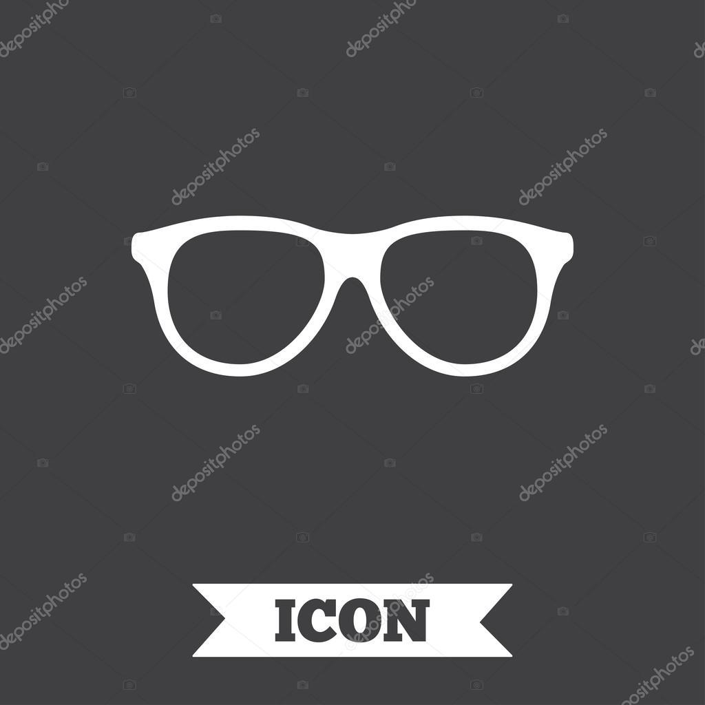 Retro Brille Zeichen Symbol — Stockvektor © Blankstock #117409430