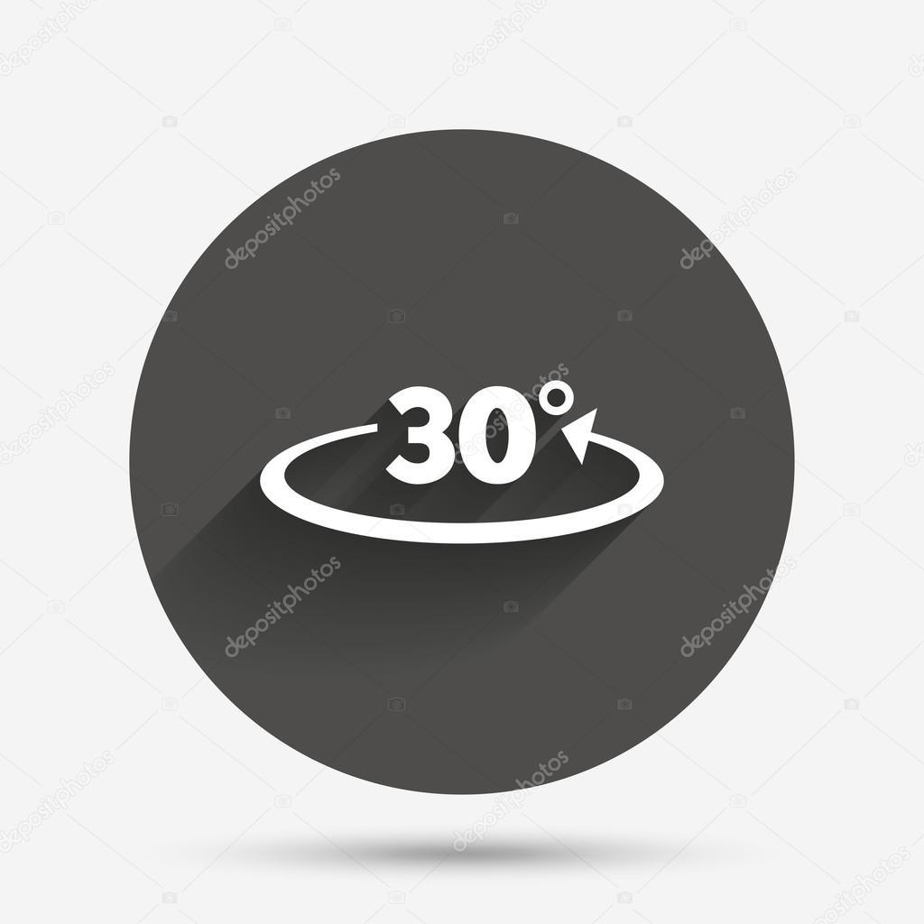 winkel 30 grad-zeichen — stockvektor © blankstock #117418872