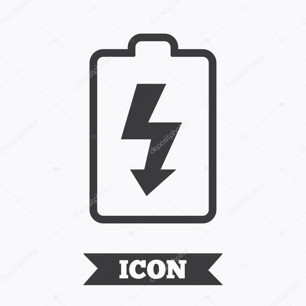 Battery charging sign — Stock Vector © Blankstock #117980940