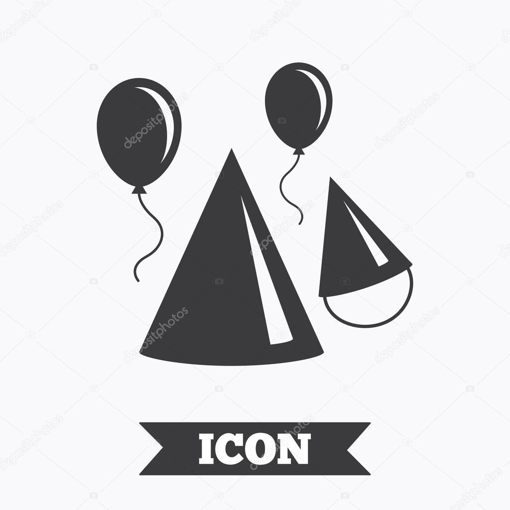 Party Hat Sign Icon Birthday Celebration Symbol Stock Vector
