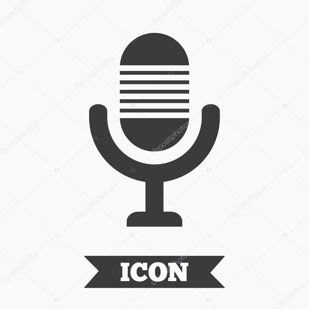 microphone icon  speaker symbol  live music sign   u2014 stock