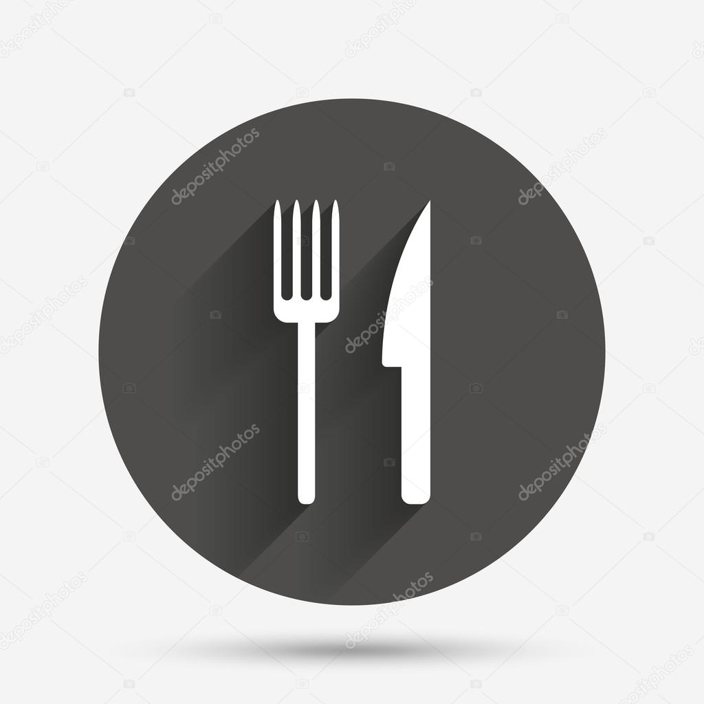 Eat Sign Icon Cutlery Symbol Fork And Knife Stock Vector