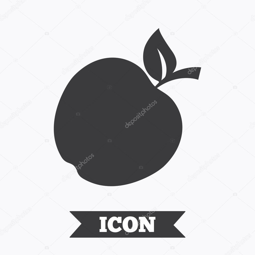 apple sign icon. — stock vector © blankstock #118011344