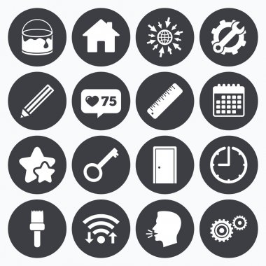 Repair, construction icons. Service signs.