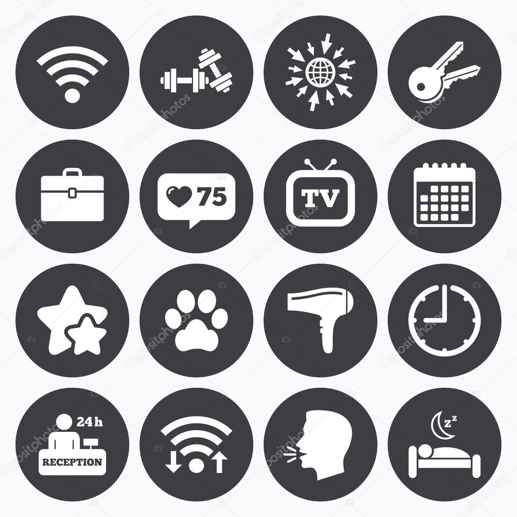 Hotel apartment service icons stock vector blankstock 120160344 depositphotos120160344 stock illustration hotel apartment service iconsg biocorpaavc Gallery