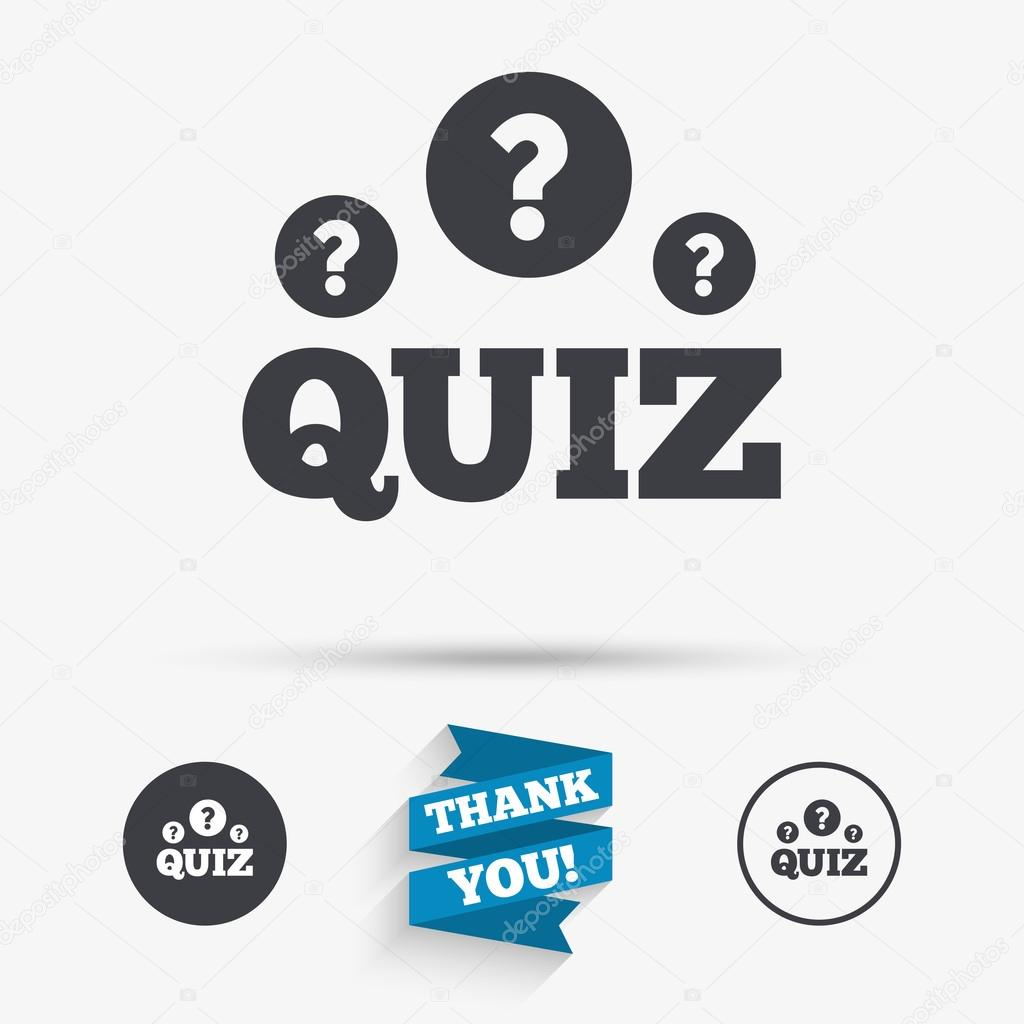 Quiz Questions And Answers Game Icons Stock Vector Blankstock