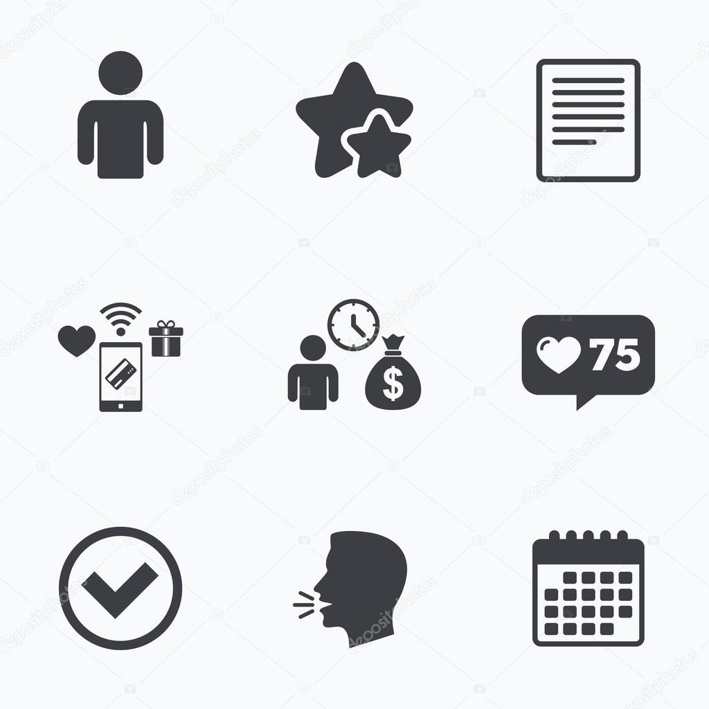 Bank-Darlehen-Symbole. Dokument zu füllen und Geld bekommen ...