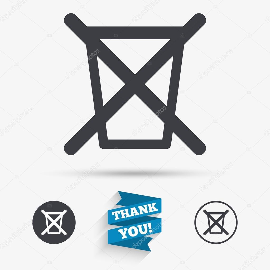 Do Not Throw In Trash Stock Vector Blankstock 121284868