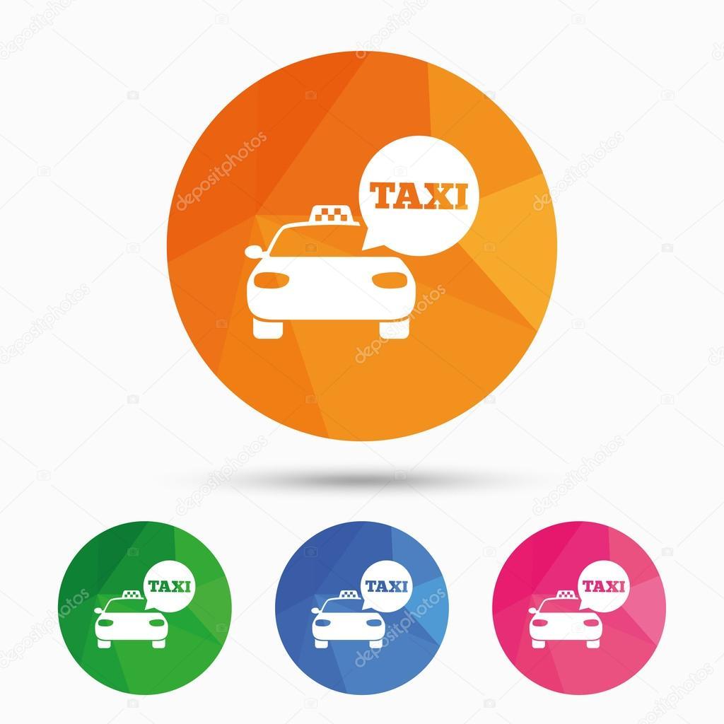 Taxi Car Signs Public Transport Symbols Stock Vector - Car signs and symbols