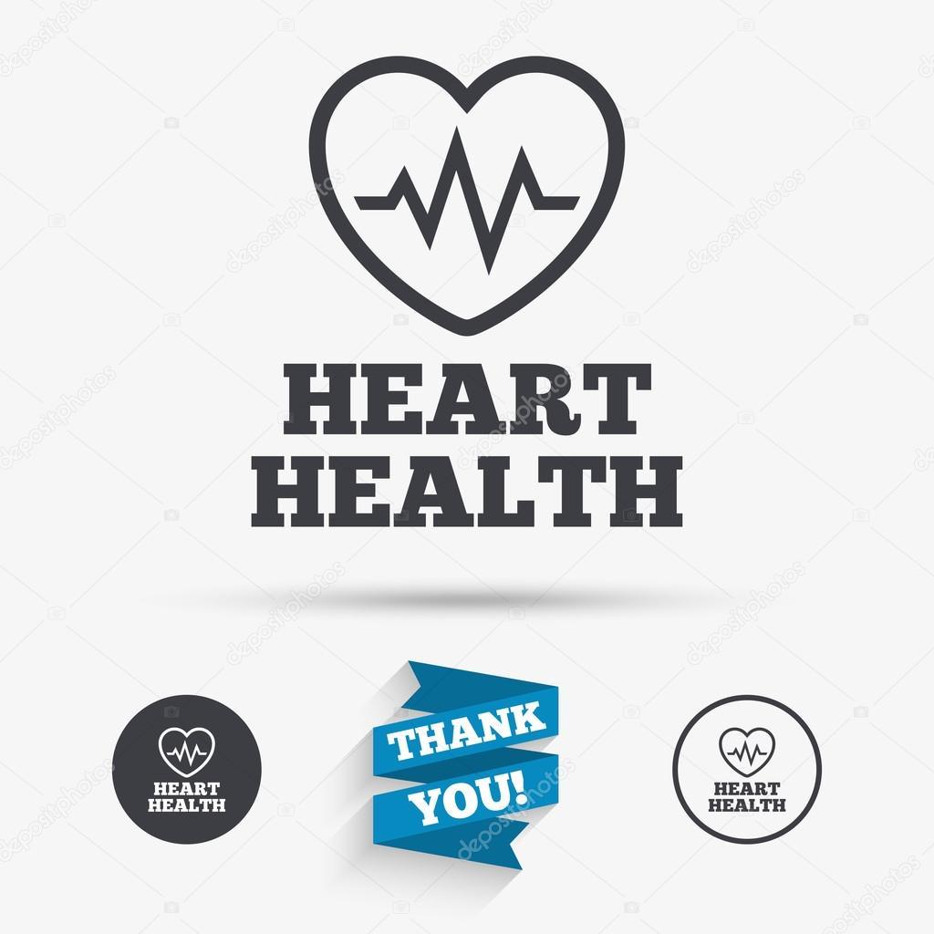 Heartbeat Sign Icon Cardiogram Symbol Stock Vector Blankstock