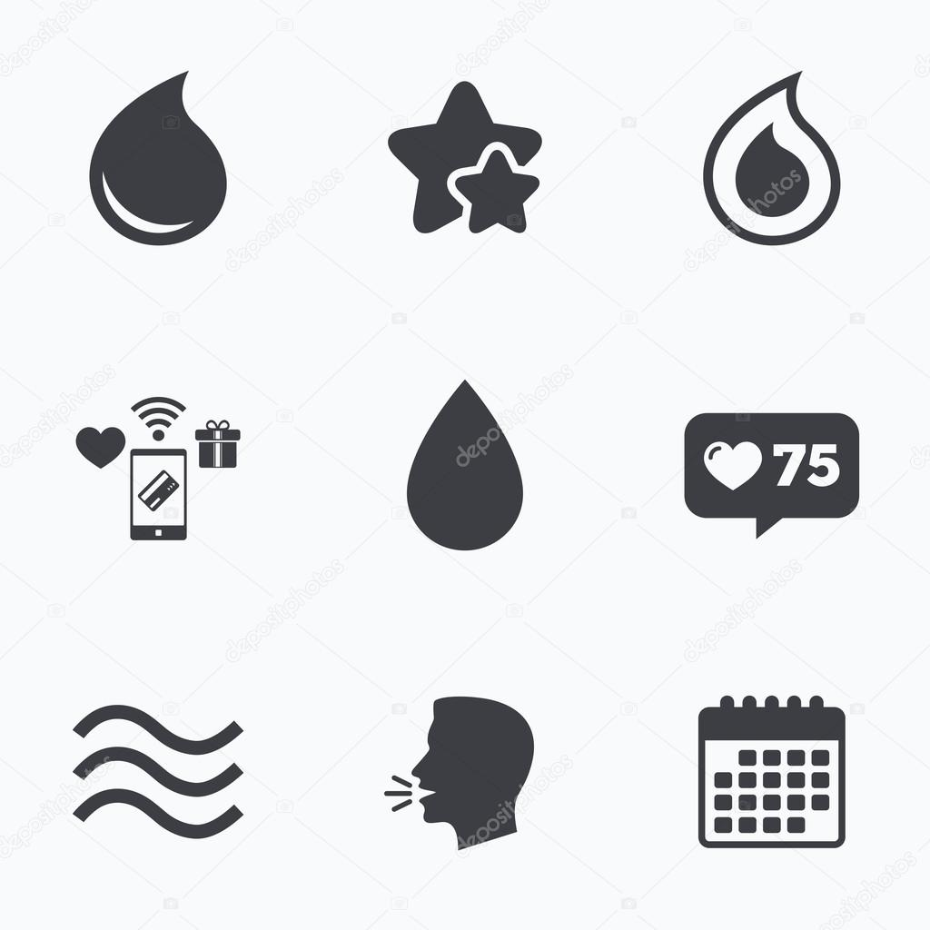 Water drop icons tear or oil symbols stock vector blankstock tear or oil symbols stock vector buycottarizona