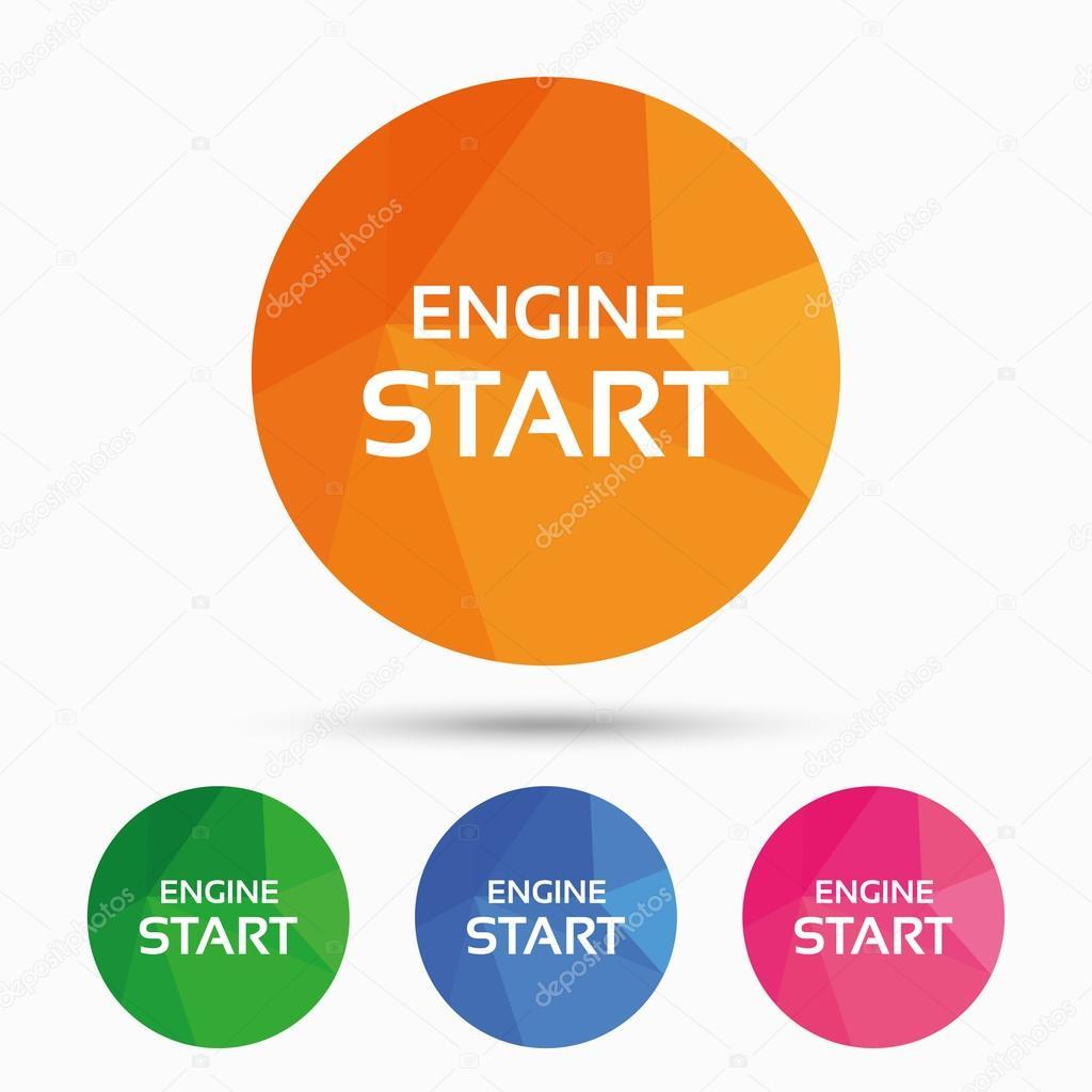 Start Motor Zeichen Symbol. Ein-/Ausschalter — Stockvektor ...
