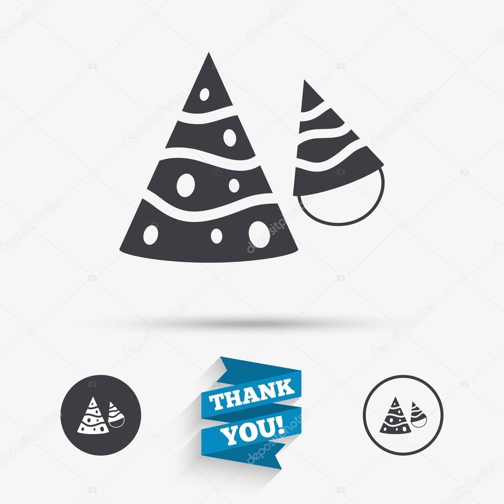 Party Hut Schild Symbol Geburtstag Feier Symbol Stockvektor