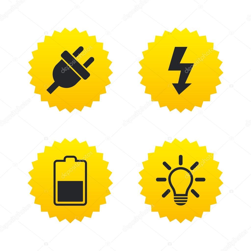 Elektrischer Stecker Zeichen — Stockvektor © Blankstock #124562308