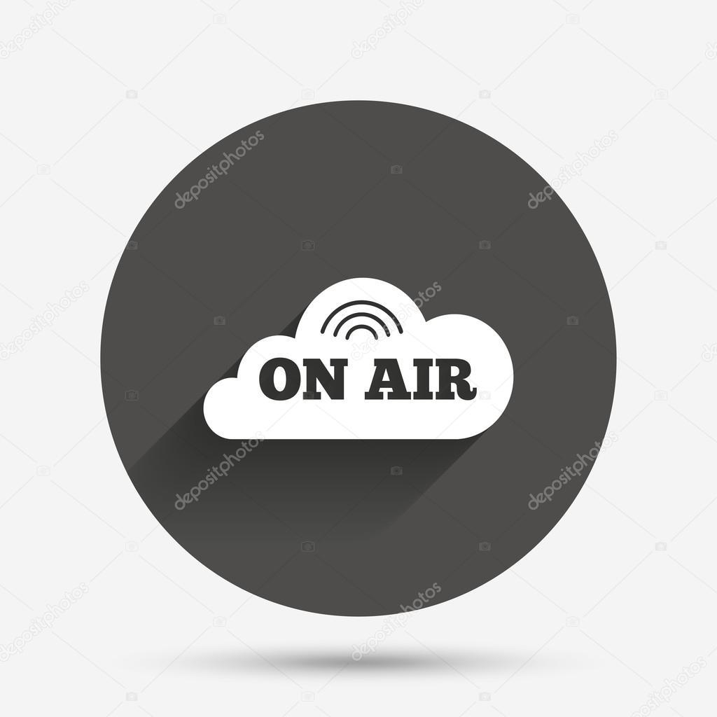 On Air Sign Icon Live Stream Symbol Stock Vector Blankstock
