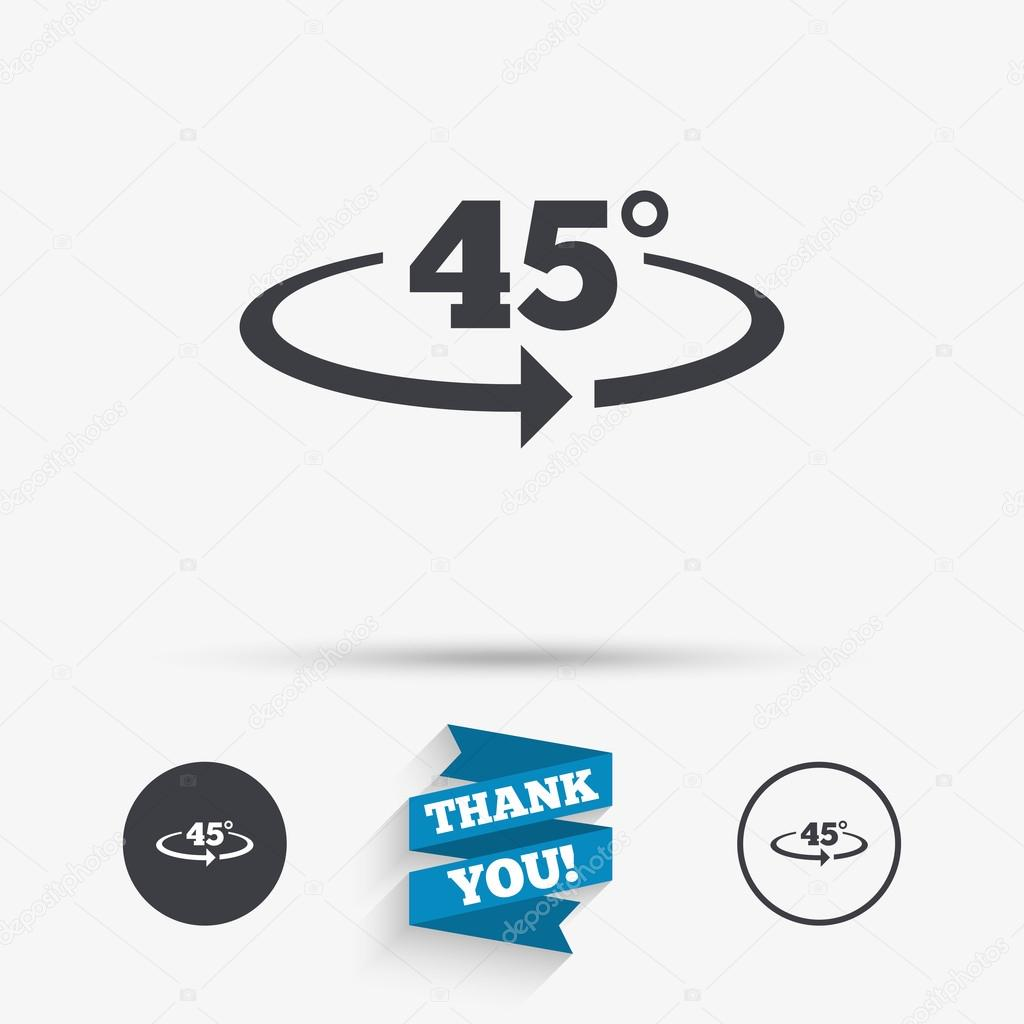 winkel 45 grad zeichen symbol. geometrie math symbol — stockvektor