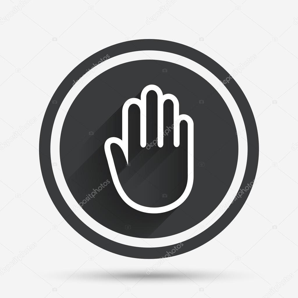 Hand sign icon  No Entry or stop symbol  — Stock Vector