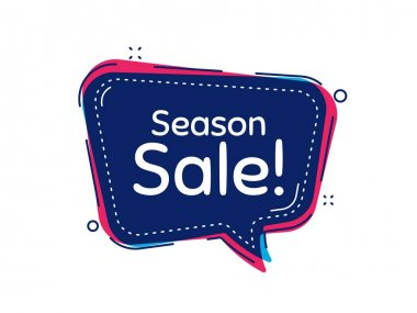 Season sale symbol. Thought bubble vector banner. Special offer price sign. Advertising discounts symbol. Dialogue or thought speech balloon shape. Season sale chat think speech bubble. Vector icon