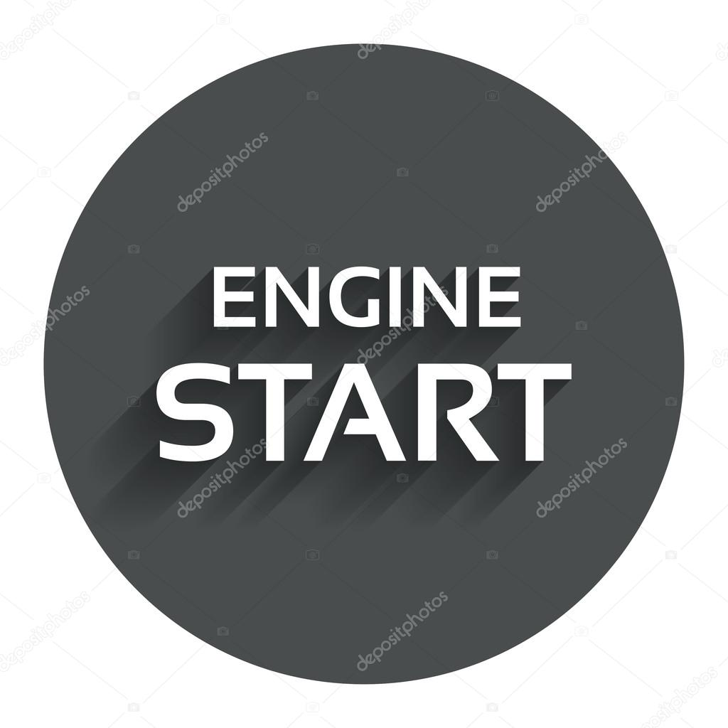 Start De Motor Teken Pictogram Power Knop Stockvector
