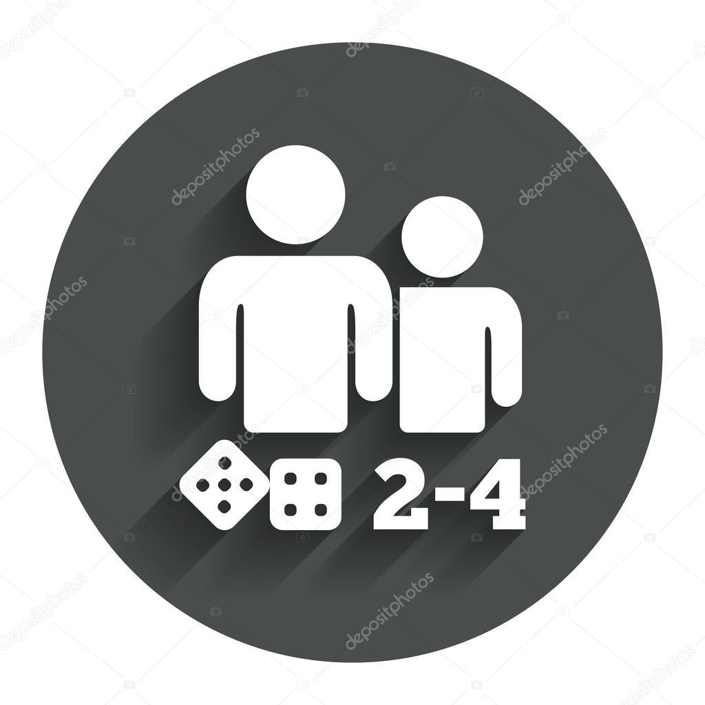 ic ne de signe de jeux de soci t symbole de 2 4 joueurs. Black Bedroom Furniture Sets. Home Design Ideas