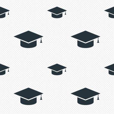 Graduation cap sign icon. Education symbol.