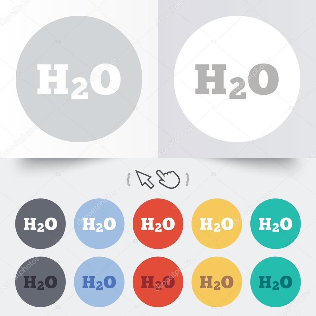 H2o water formula sign icon chemistry symbol stock vector h2o water formula sign icon chemistry symbol stock vector buycottarizona Choice Image