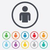 ikona přihlášení uživatele. osoba symbol.