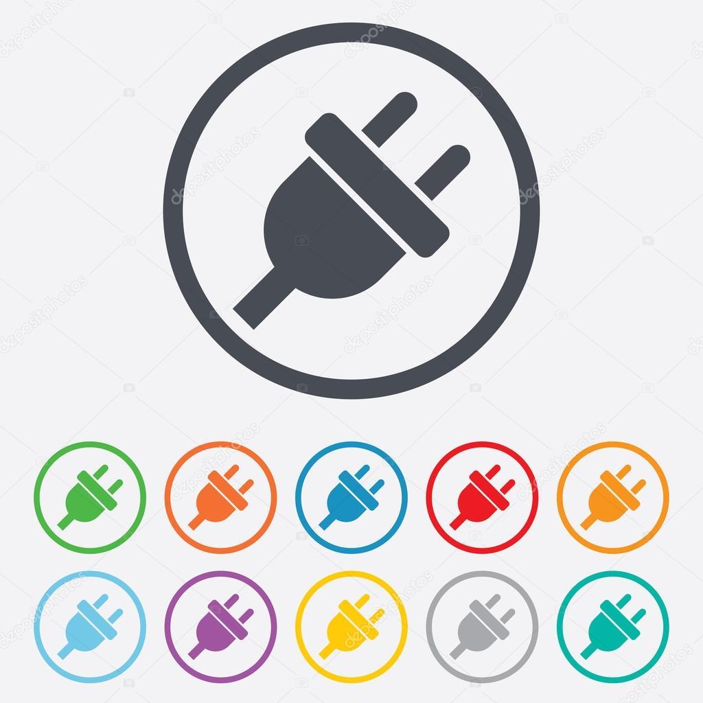 Plug Power Stock Quote: Icône De Signe De Prise électrique. Symbole De L'énergie