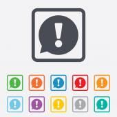 Fényképek felkiáltójel-ikon jele. figyelmet szimbólum