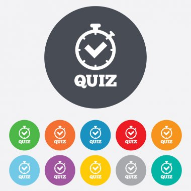 Quiz signs icons