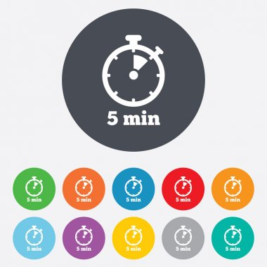 Timer signs icons