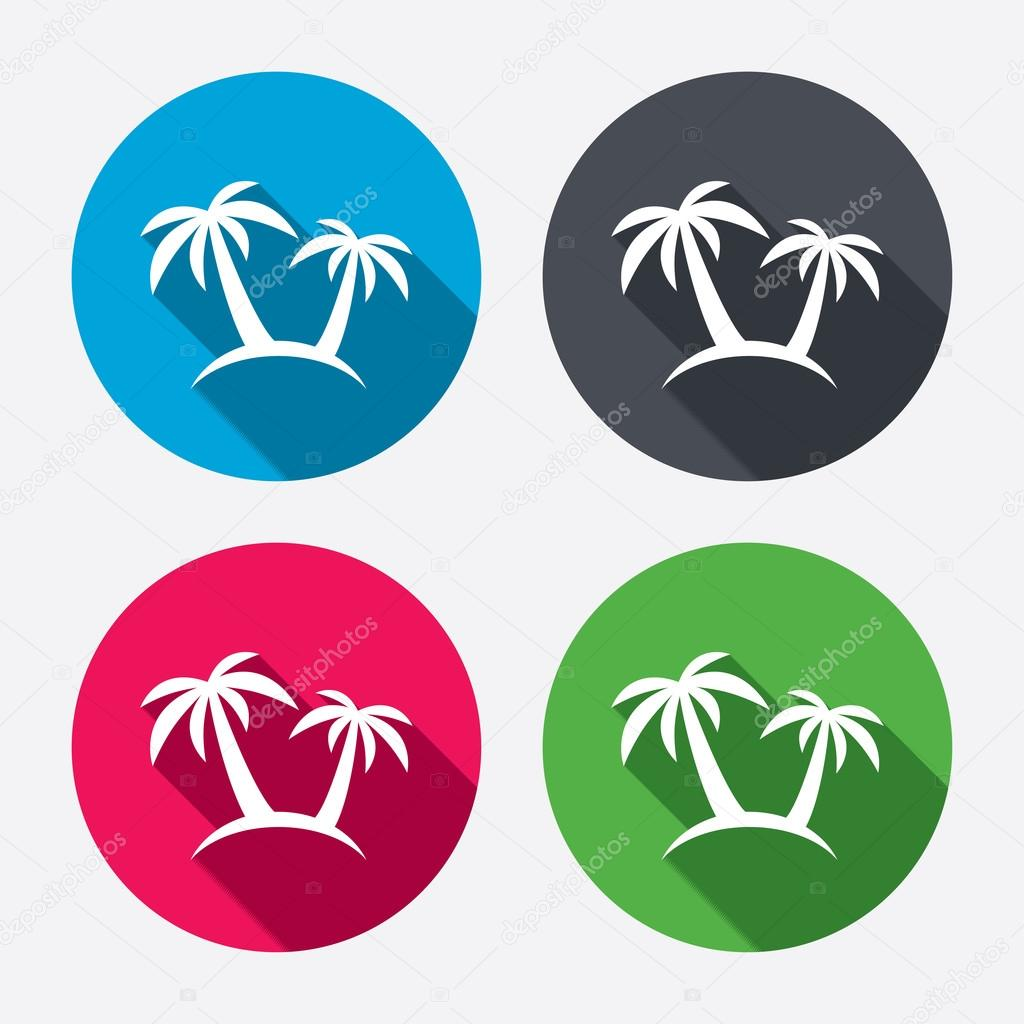 Palm Tree sign icons