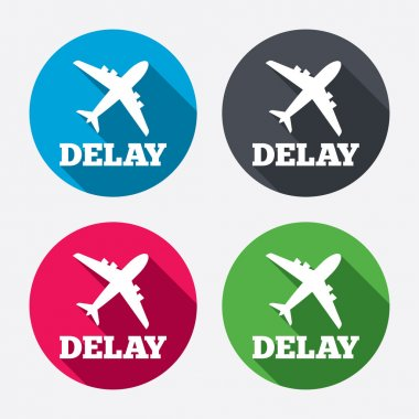 Delayed flight sign icons