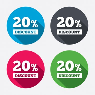 20 percent discount icons
