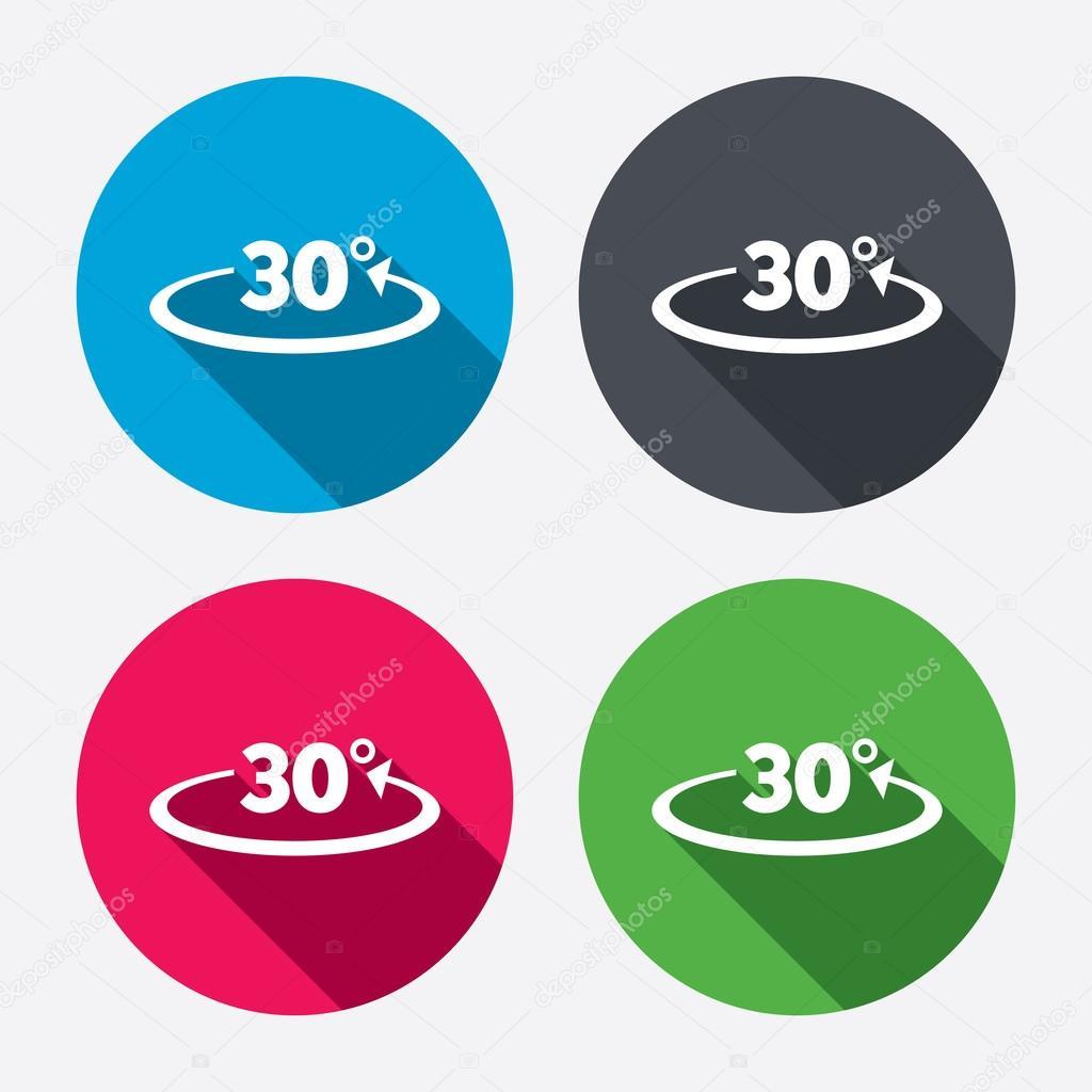 winkel 30 grad symbole — stockvektor © blankstock #60588093