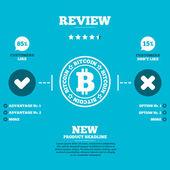 Fotografie Bitcoin-Zeichen