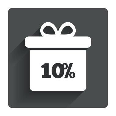 10 percent sale gift box