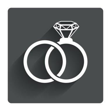 Wedding rings sign