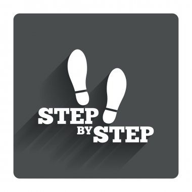 Step by step icon.