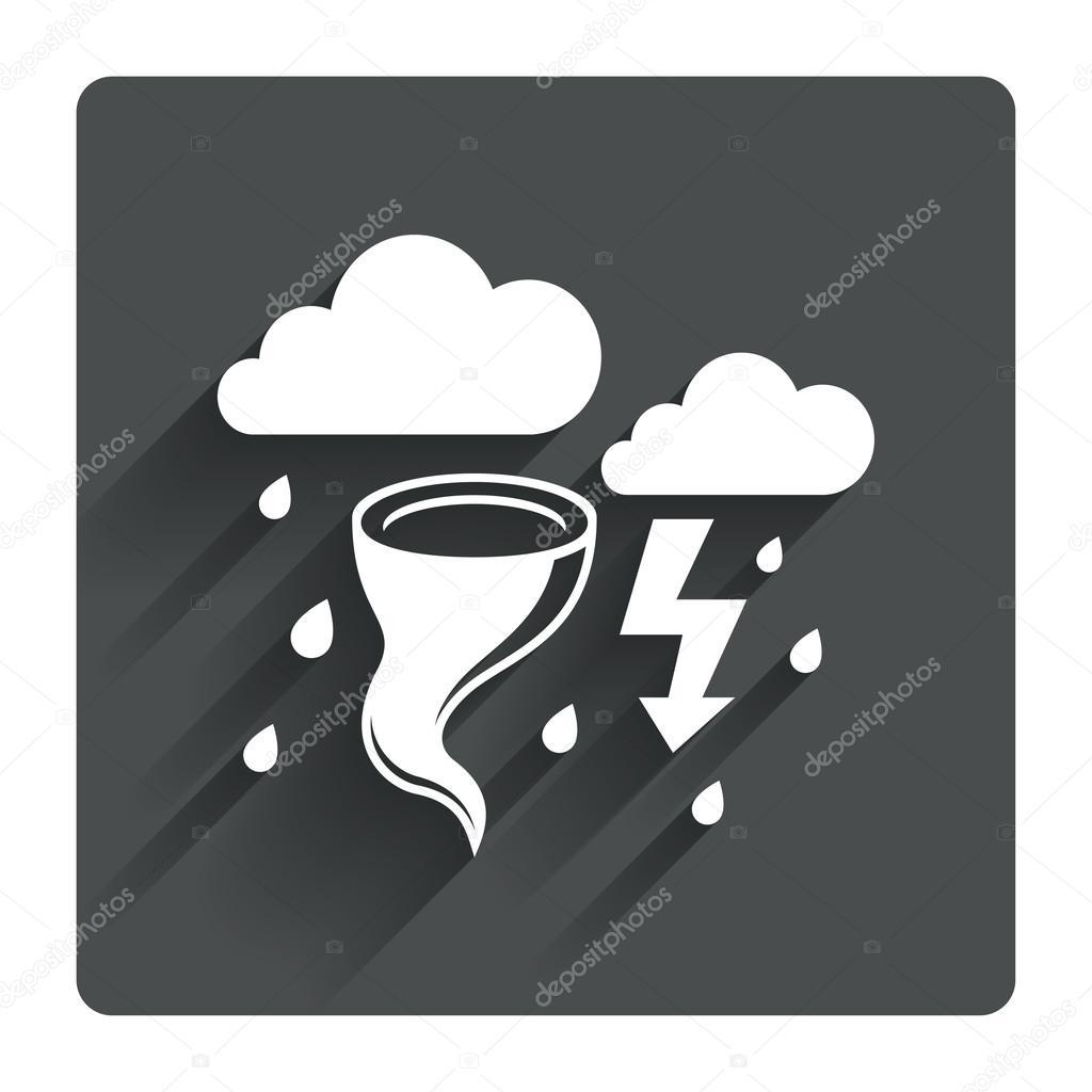 Storm bad weather icon.