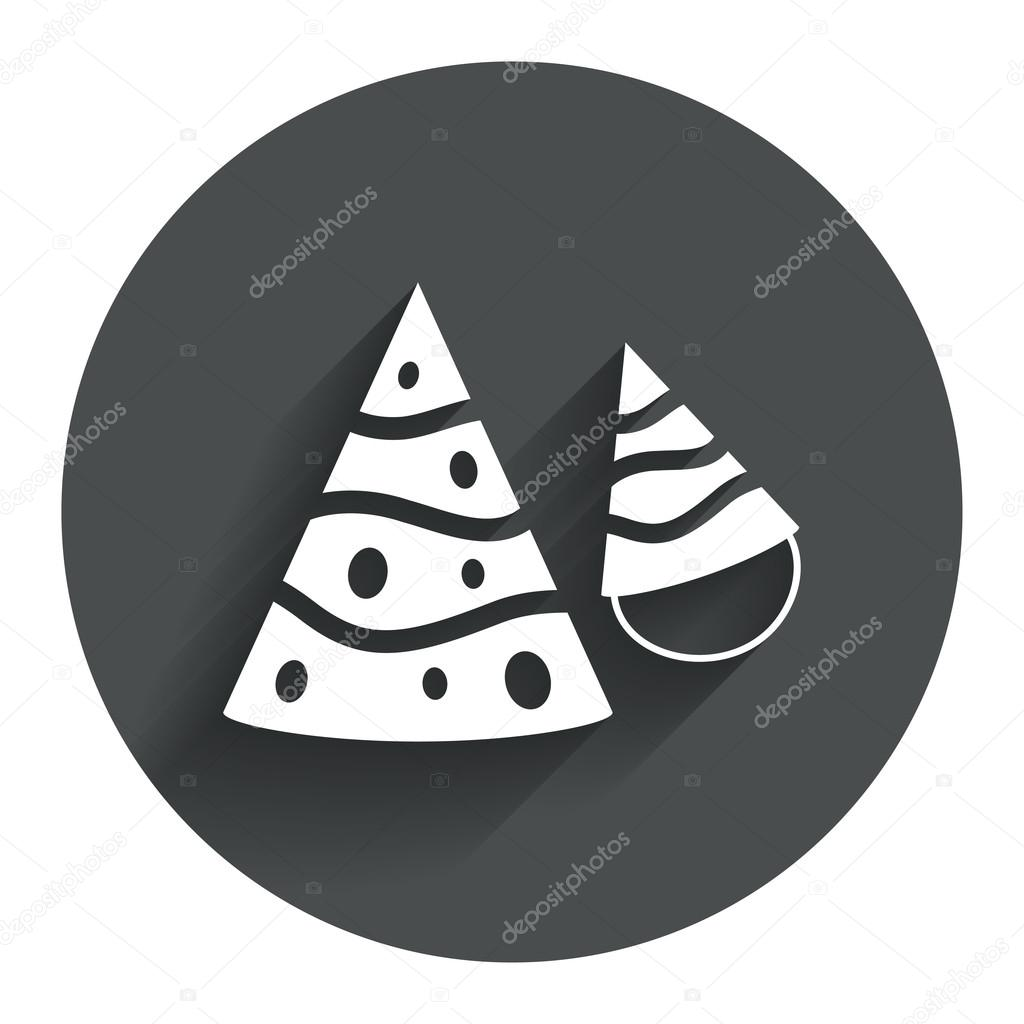 Party Hat Sign Icons Stock Vector Blankstock 62869403