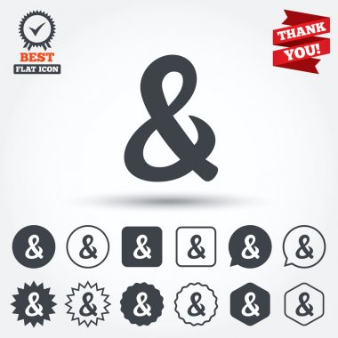 Ampersand sign icons