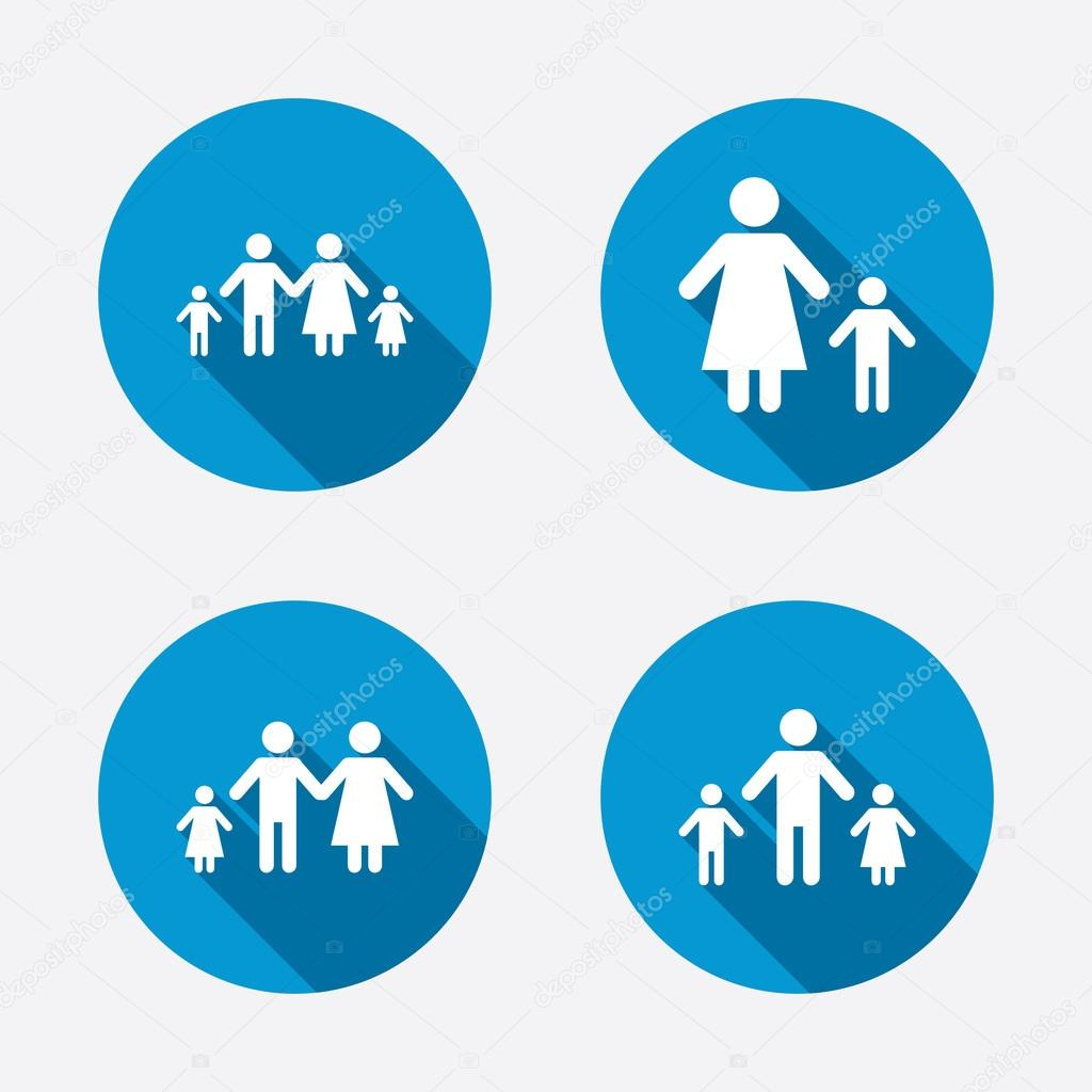 Family with two children signs