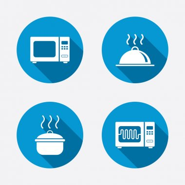 Microwave oven icons