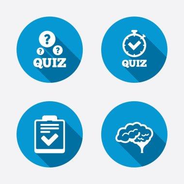 Checklist and human brain symbols